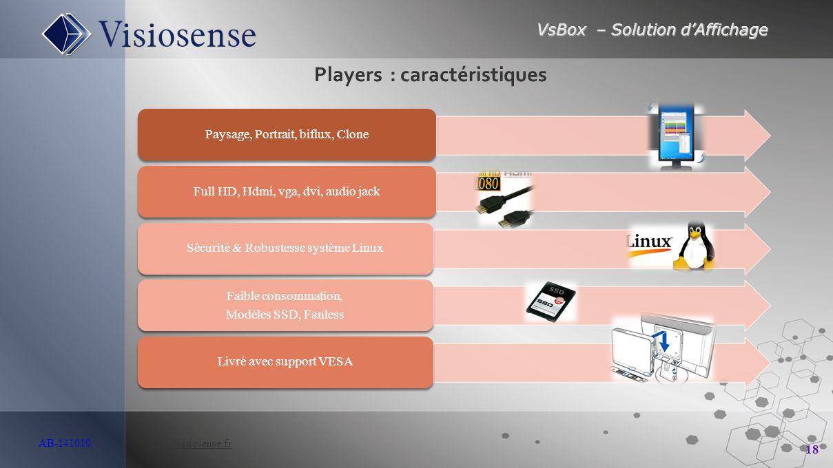Players : caractéristiques