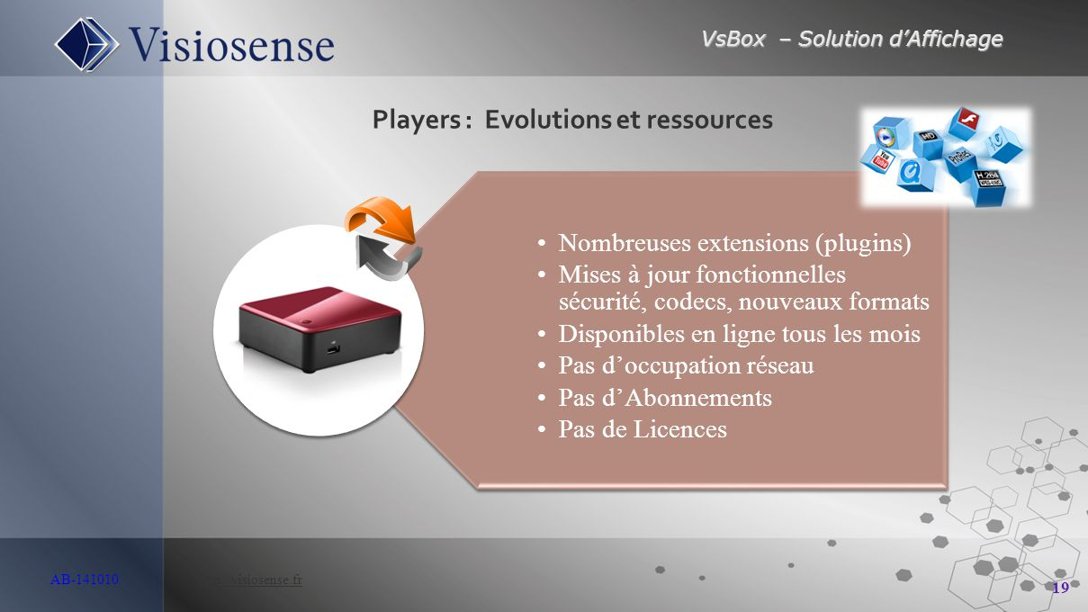 Players : Evolutions et ressources