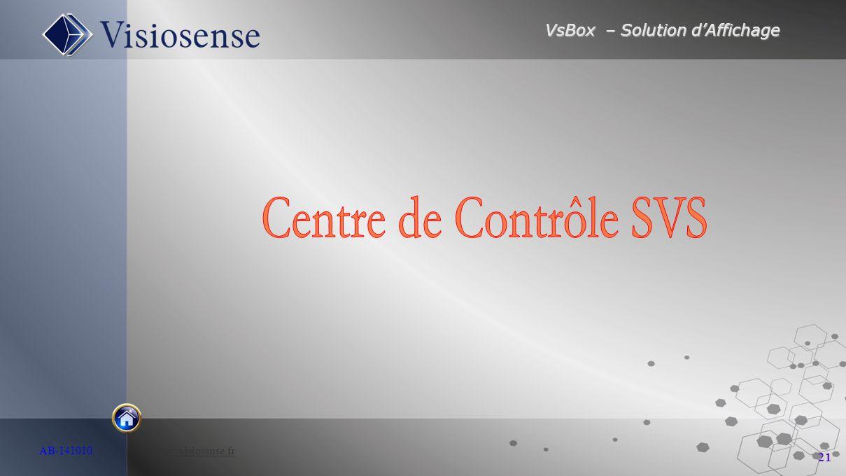 Centre de Contrôle SVS