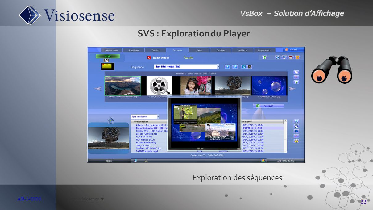 SVS : Exploration du Player