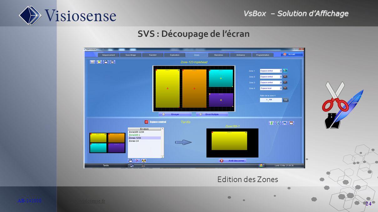 SVS : Découpage de l'écran