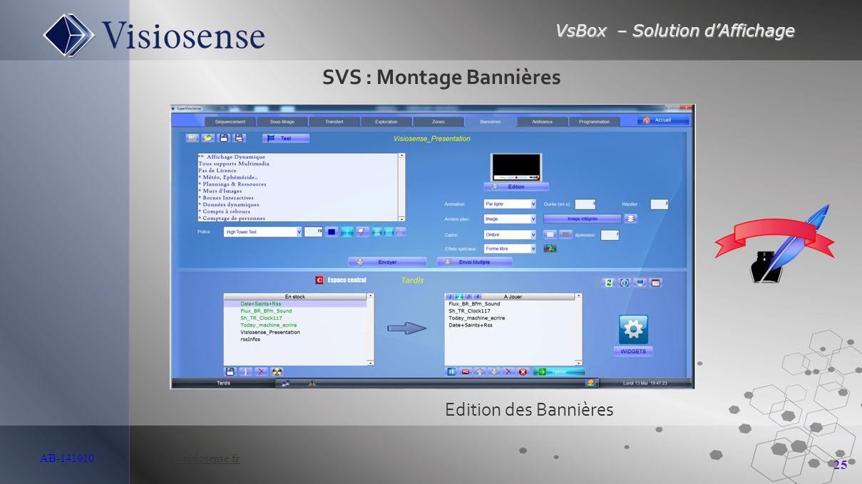 SVS : Montage Bannières