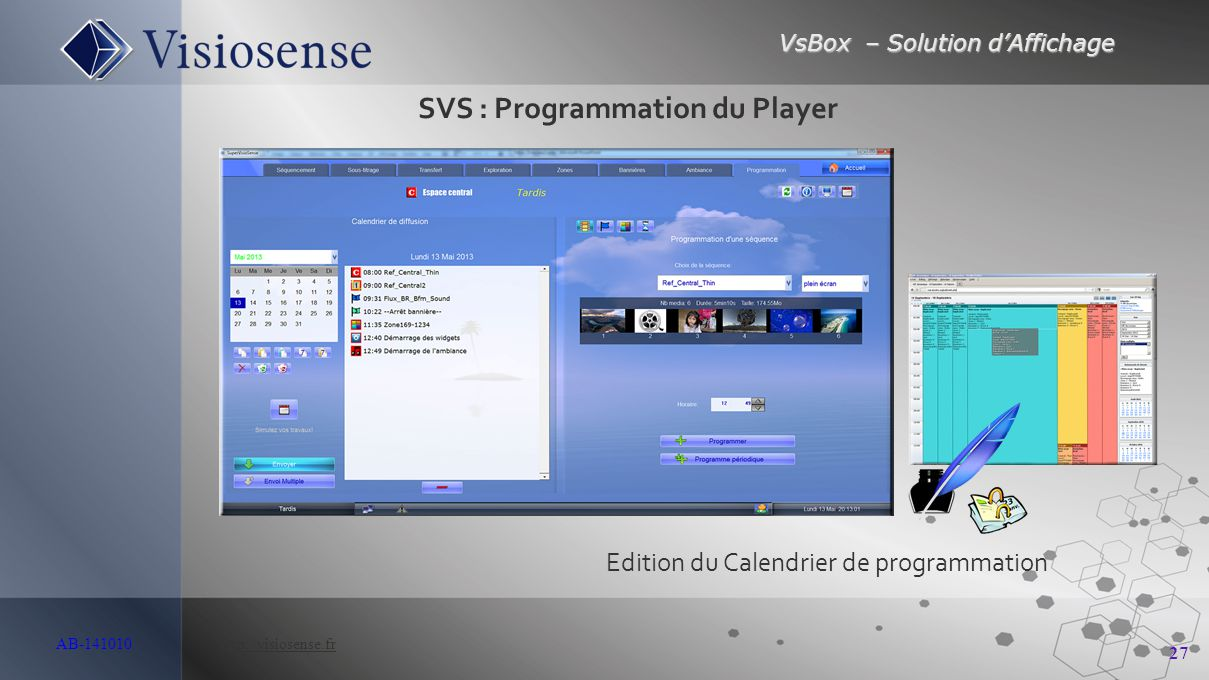 SVS : Programmation du Player