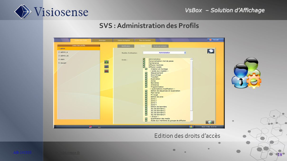 SVS : Administration des Profils