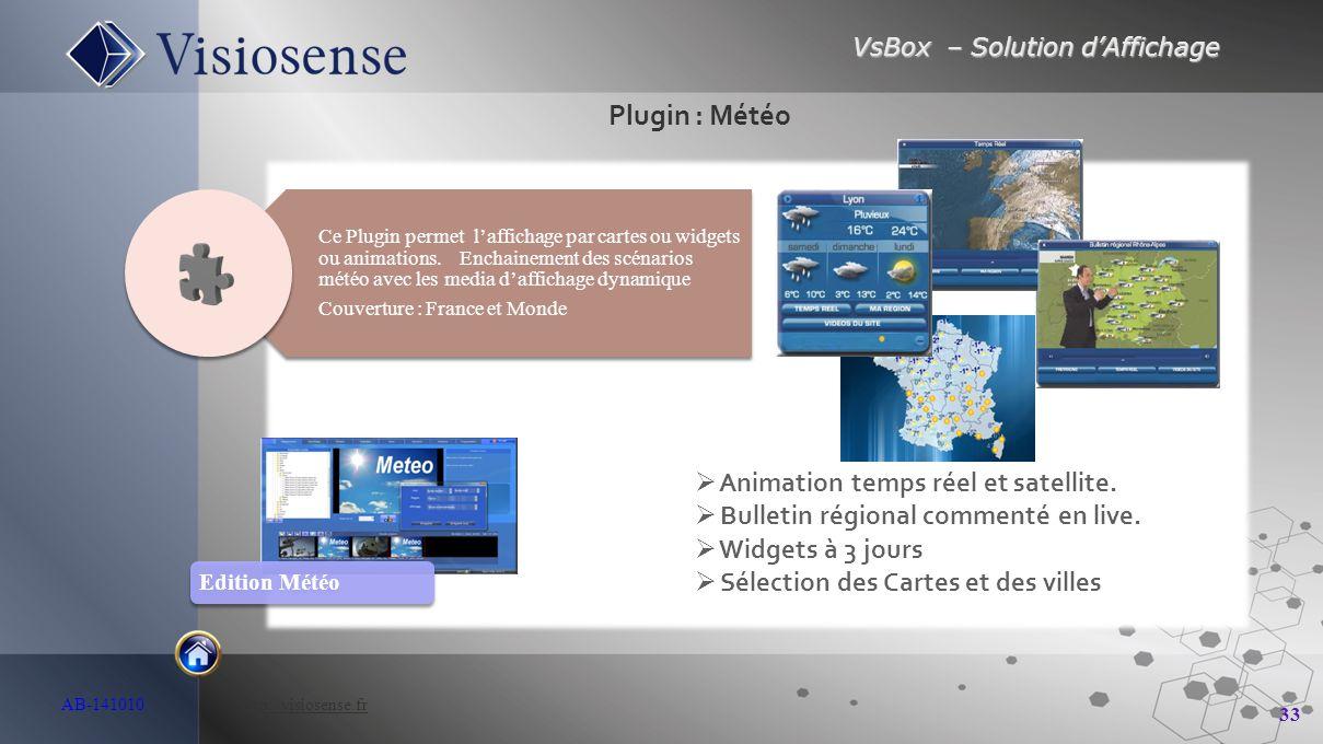 Plugin : Météo Animation temps réel et satellite.