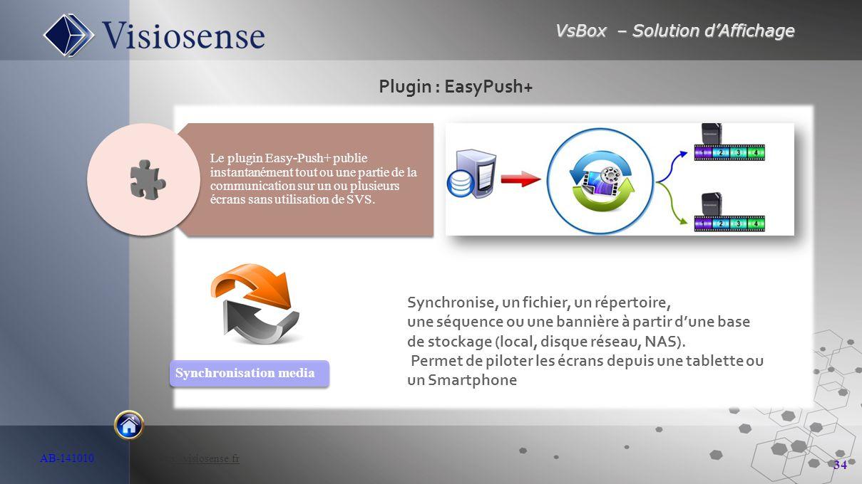 Plugin : EasyPush+ Synchronise, un fichier, un répertoire,
