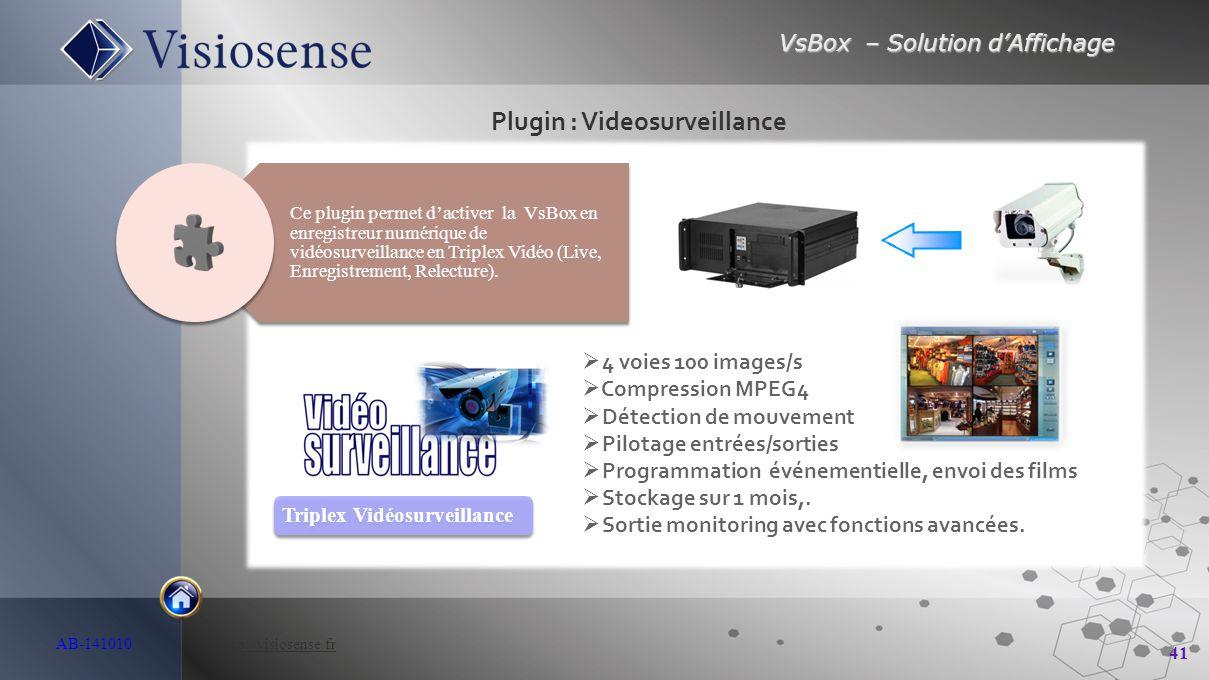 Plugin : Videosurveillance