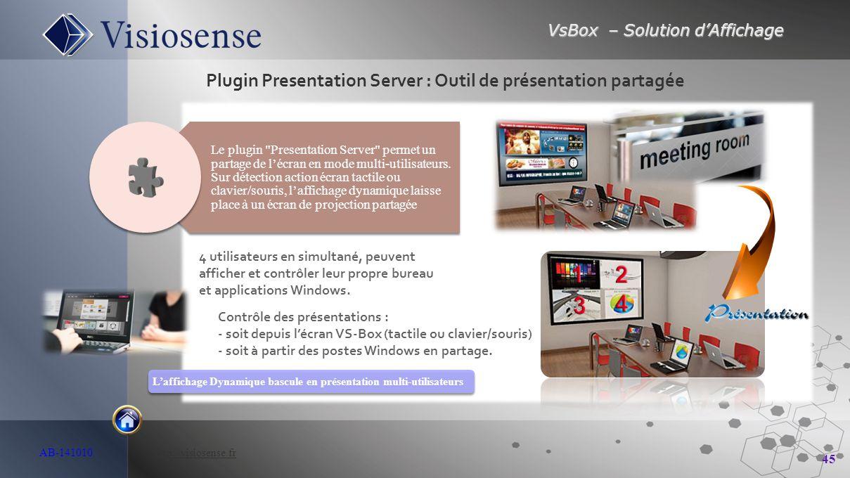 Plugin Presentation Server : Outil de présentation partagée