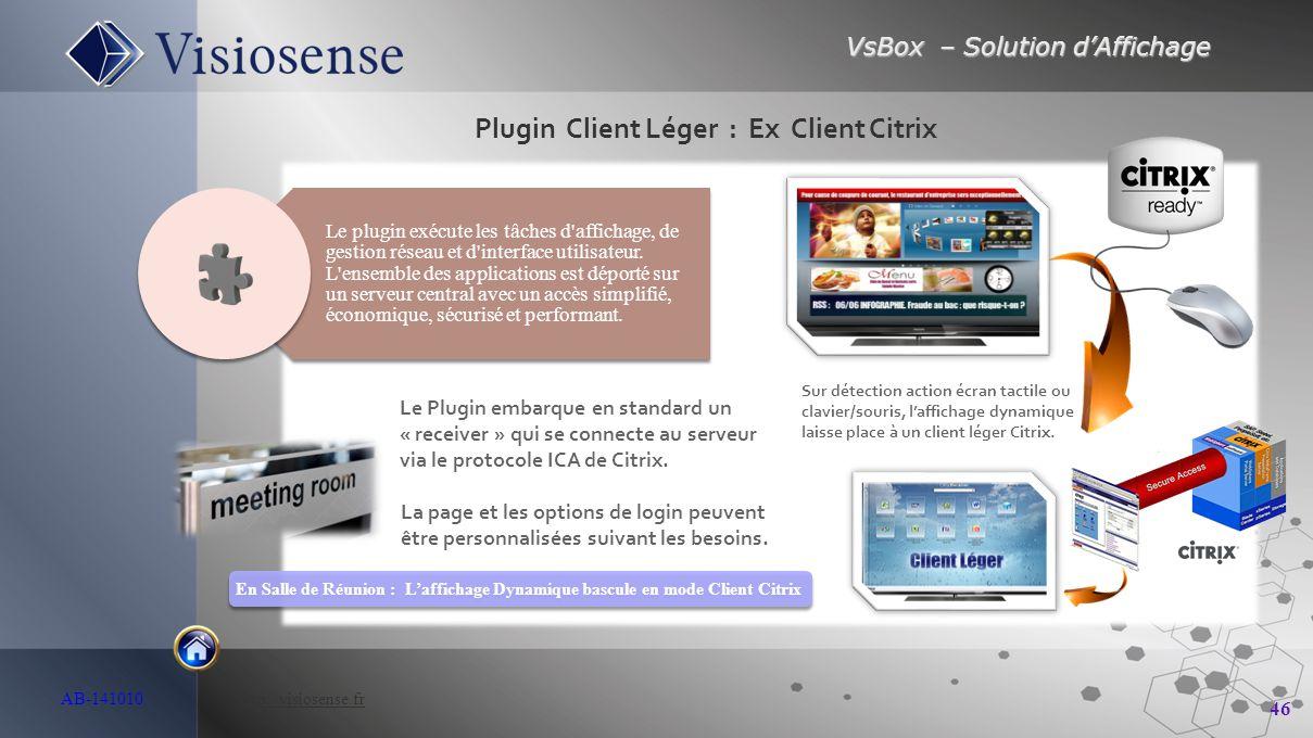 Plugin Client Léger : Ex Client Citrix