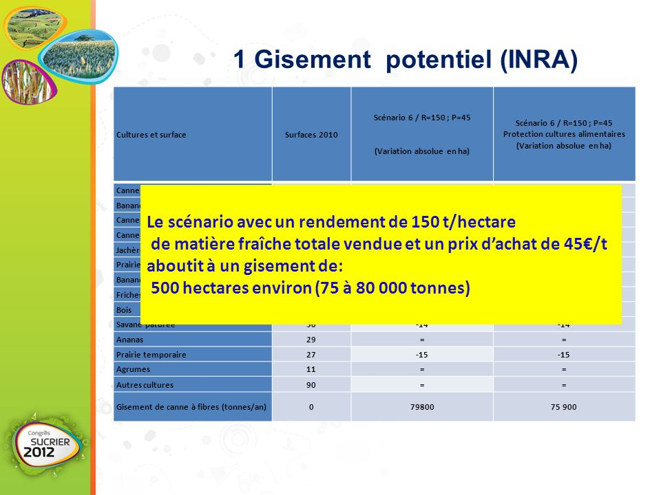 1 Gisement potentiel (INRA)
