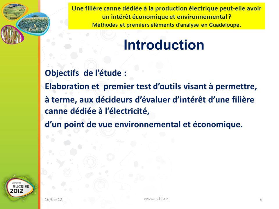 Introduction Objectifs de l'étude :