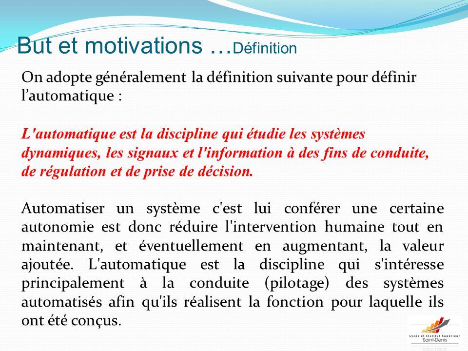 But et motivations …Définition