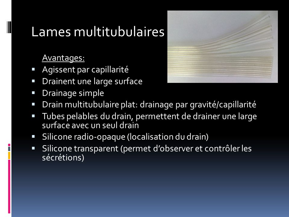 Lames multitubulaires
