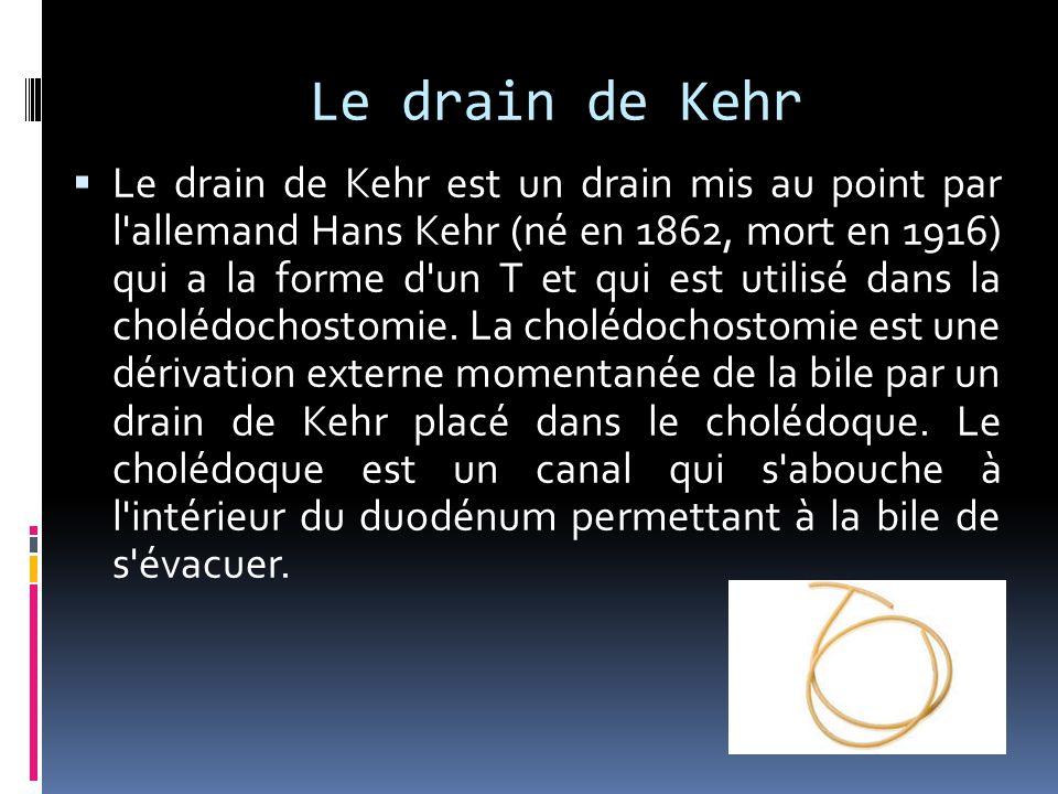 Le drain de Kehr