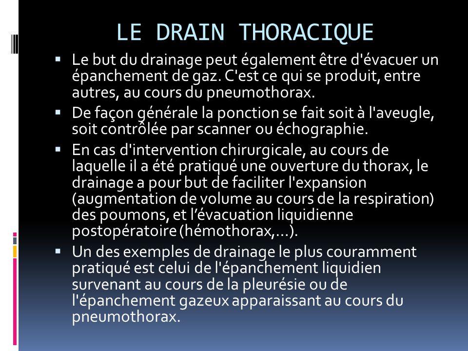 LE DRAIN THORACIQUE