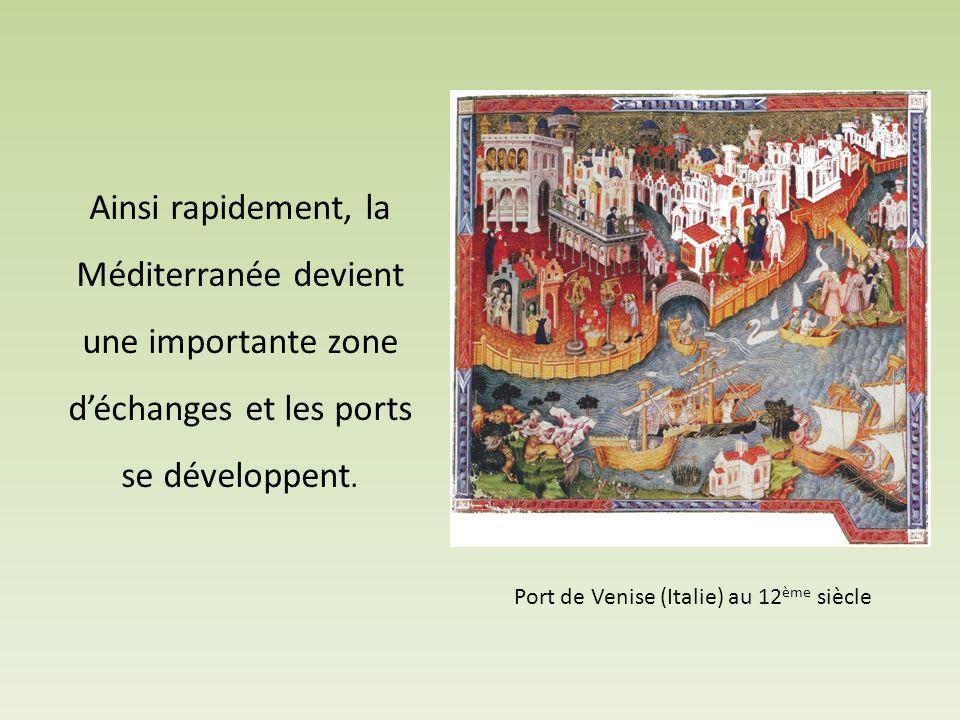 Port de Venise (Italie) au 12ème siècle
