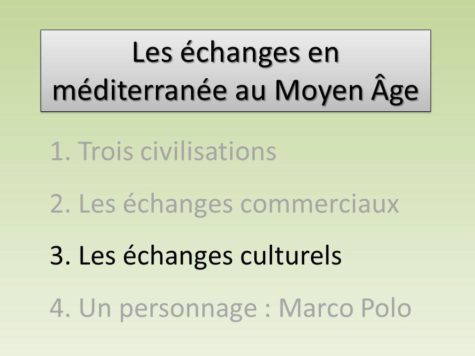 Les échanges en méditerranée au Moyen âge