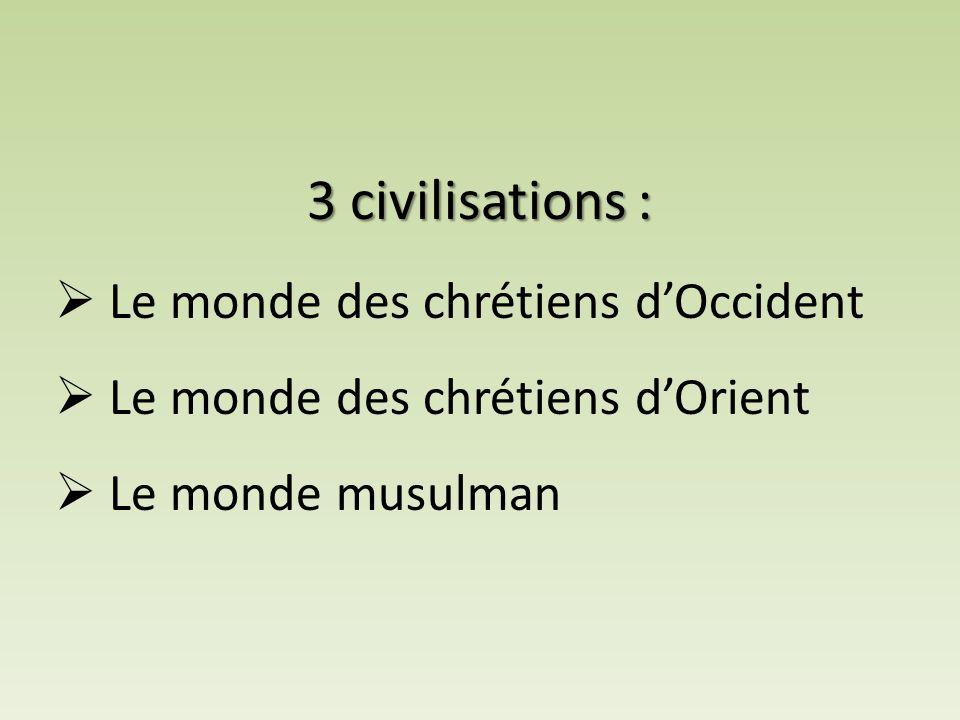 3 civilisations :  Le monde des chrétiens d'Occident