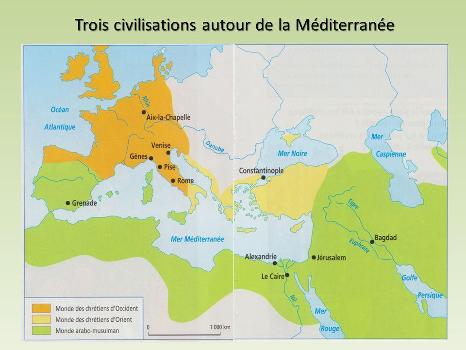 Trois civilisations autour de la Méditerranée