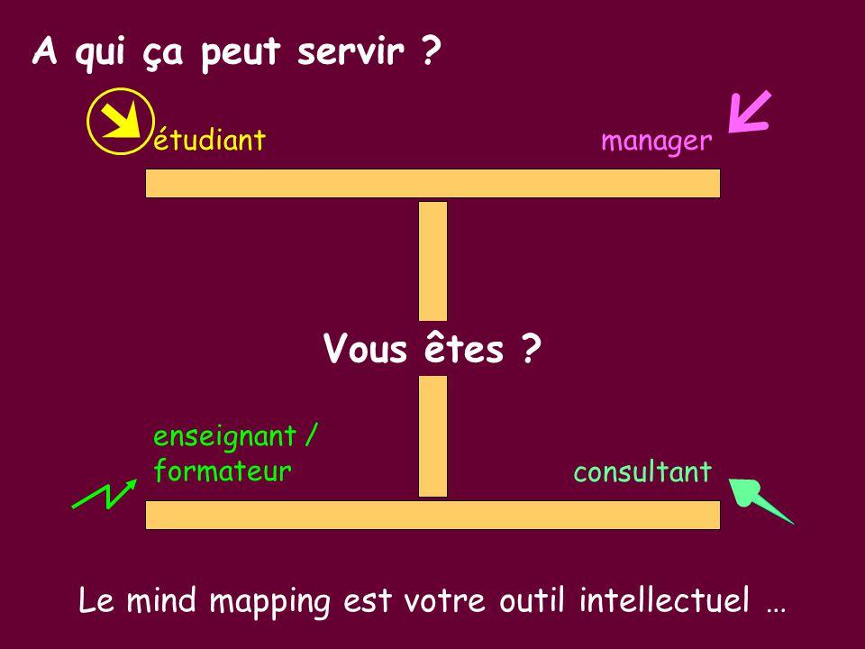 Le mind mapping est votre outil intellectuel …