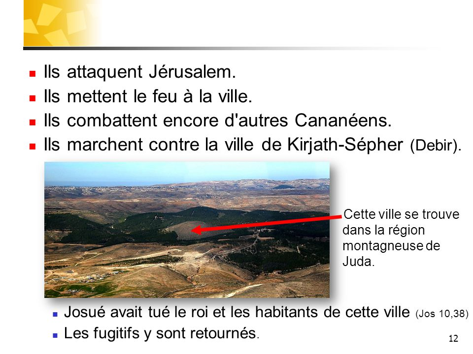 Ils attaquent Jérusalem. Ils mettent le feu à la ville.