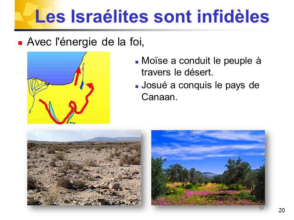 Les Israélites sont infidèles