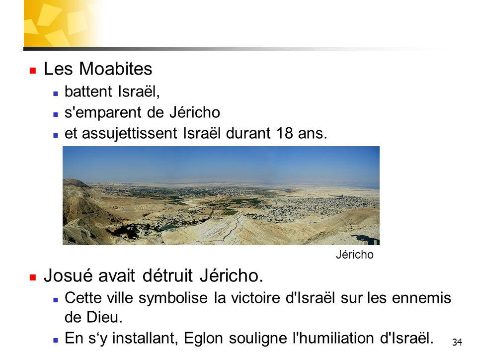 Josué avait détruit Jéricho.