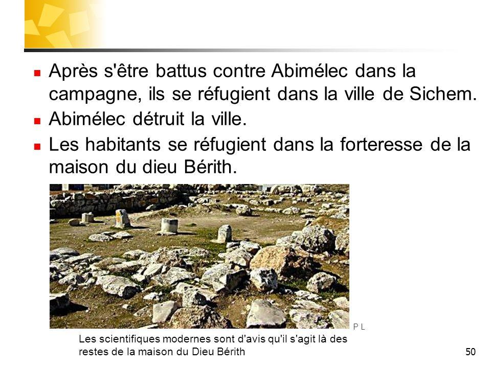 Abimélec détruit la ville.