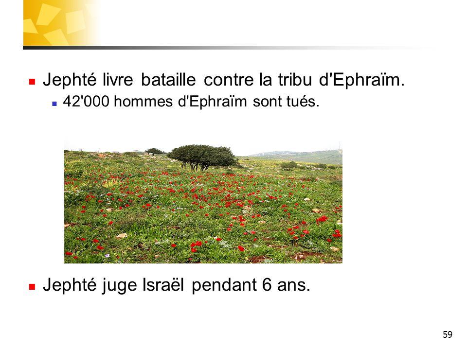 Jephté livre bataille contre la tribu d Ephraïm.