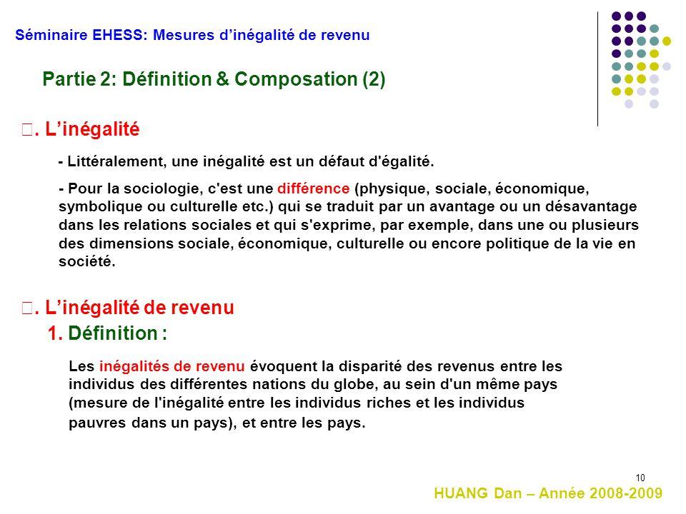 Partie 2: Définition & Composation (2)