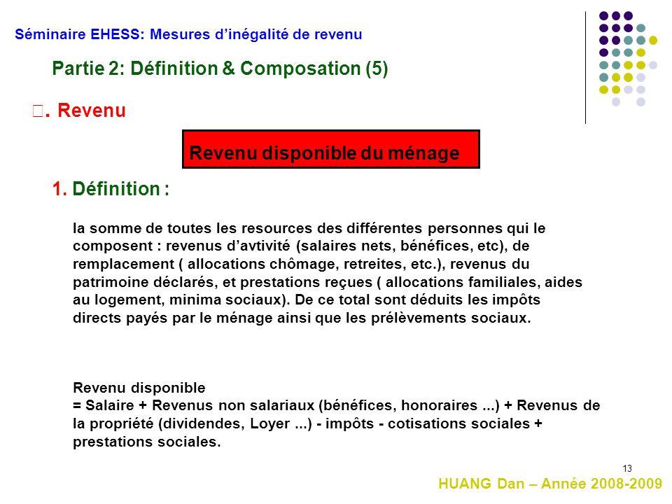 Partie 2: Définition & Composation (5)