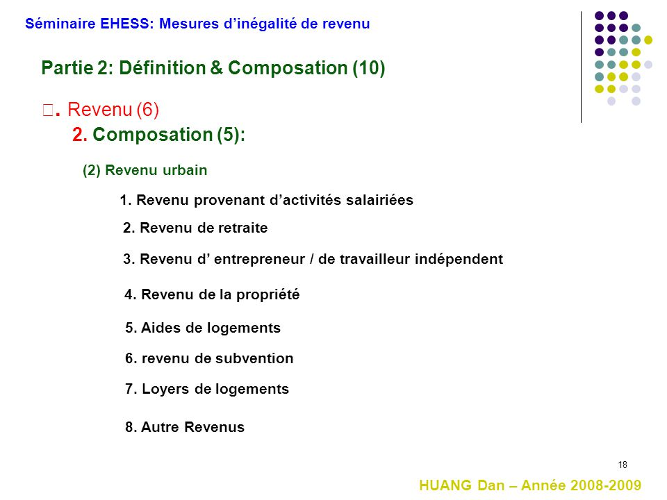 Partie 2: Définition & Composation (10)