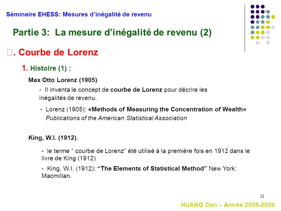 Partie 3: La mesure d'inégalité de revenu (2)