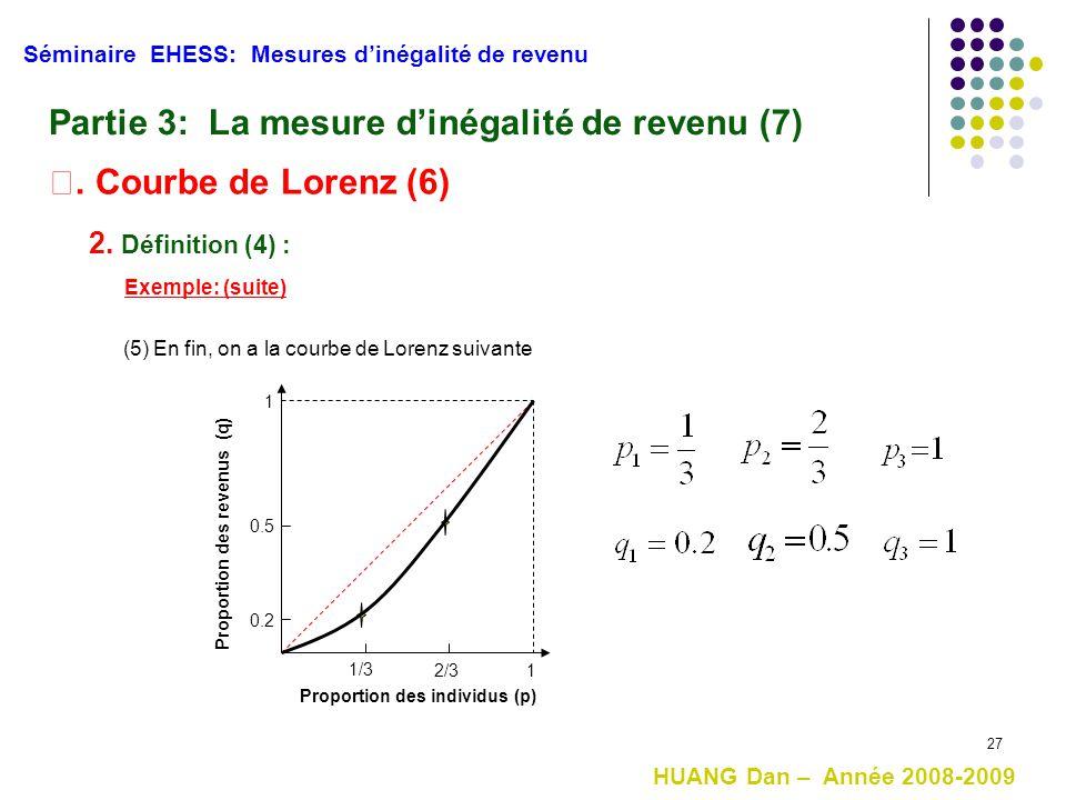Partie 3: La mesure d'inégalité de revenu (7)