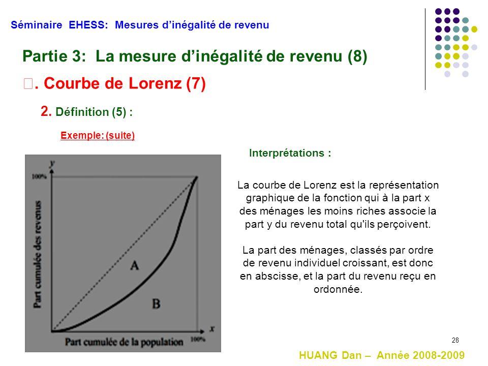 Partie 3: La mesure d'inégalité de revenu (8)