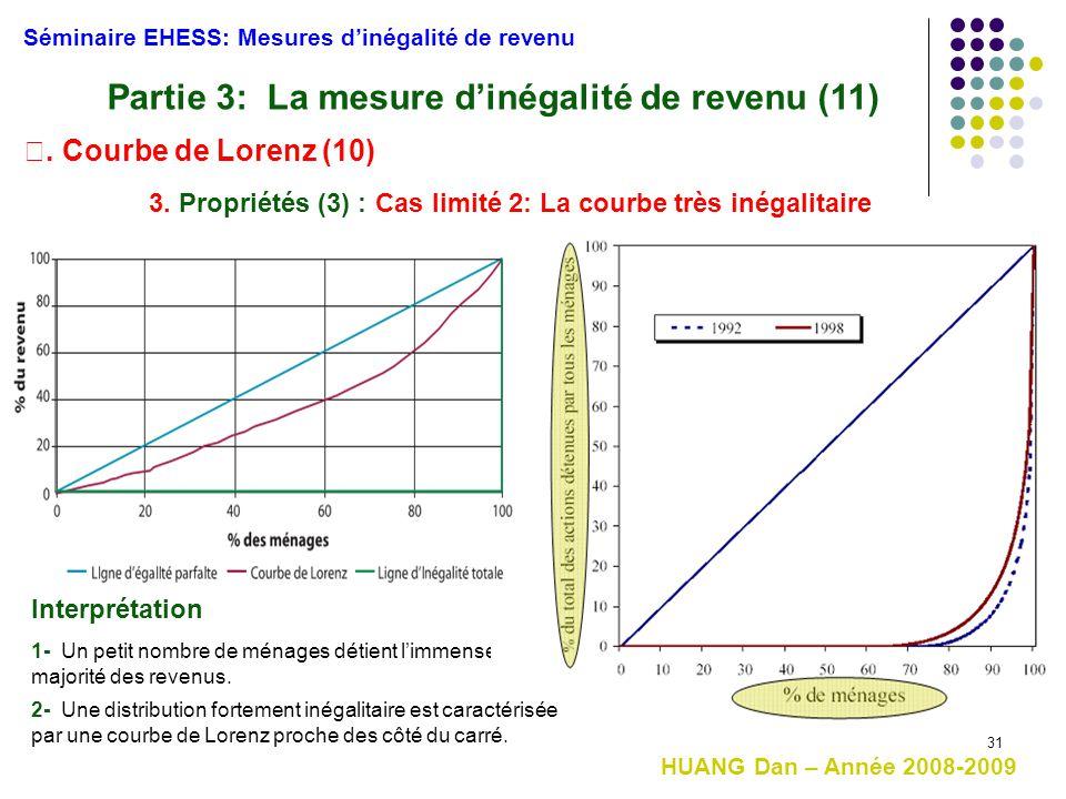 Partie 3: La mesure d'inégalité de revenu (11)