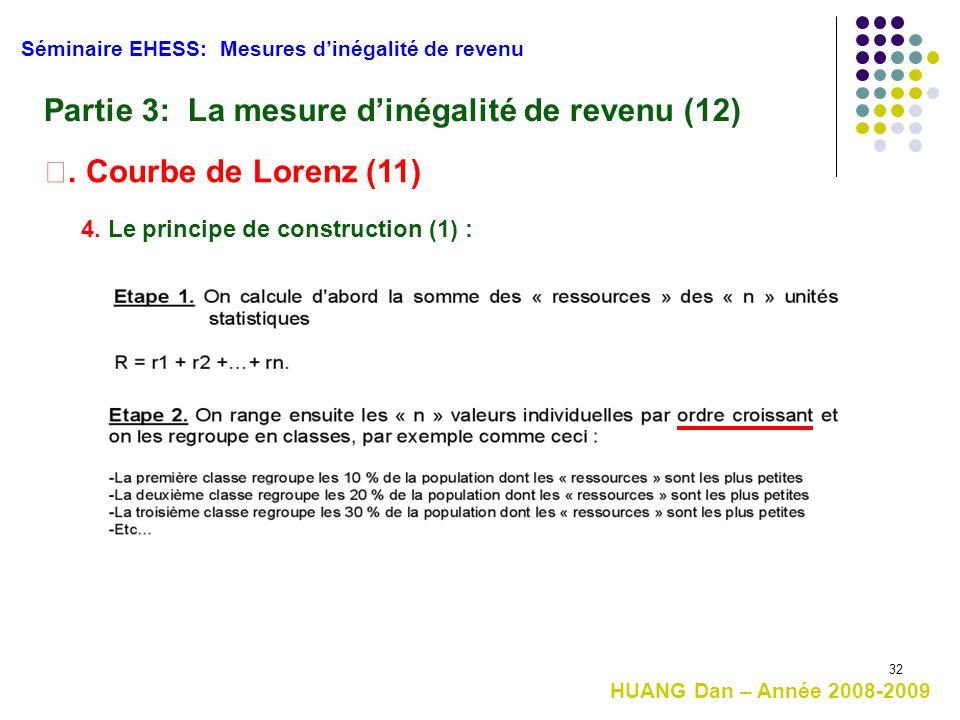 Partie 3: La mesure d'inégalité de revenu (12)