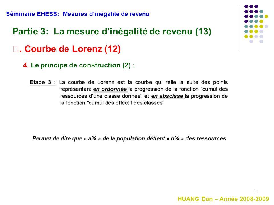 Partie 3: La mesure d'inégalité de revenu (13)