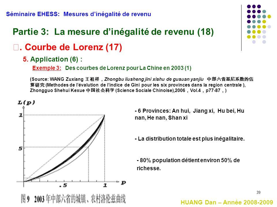 Partie 3: La mesure d'inégalité de revenu (18)