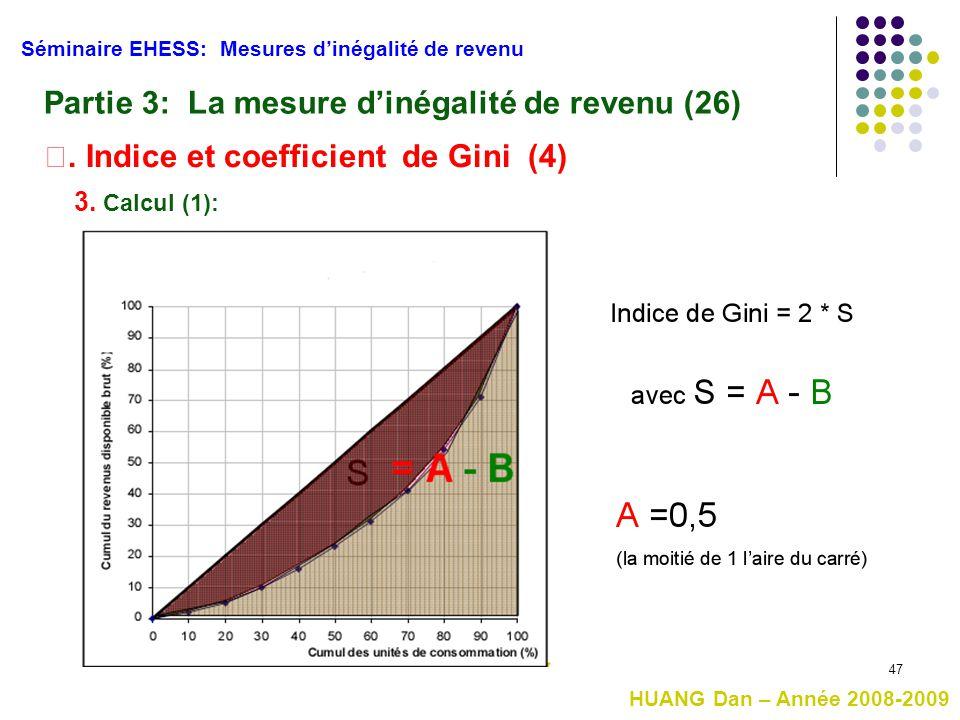 Partie 3: La mesure d'inégalité de revenu (26)
