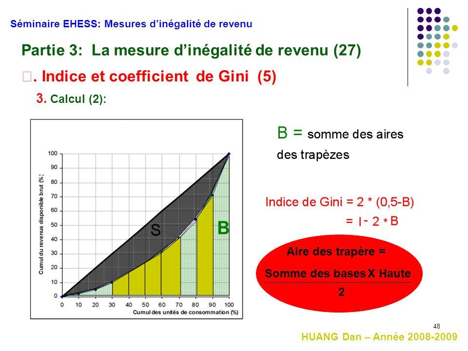 Partie 3: La mesure d'inégalité de revenu (27)