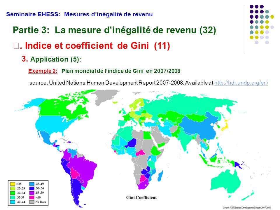 Partie 3: La mesure d'inégalité de revenu (32)