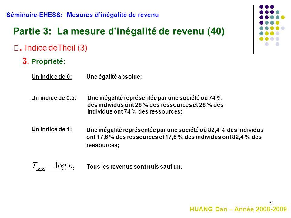 Partie 3: La mesure d'inégalité de revenu (40)
