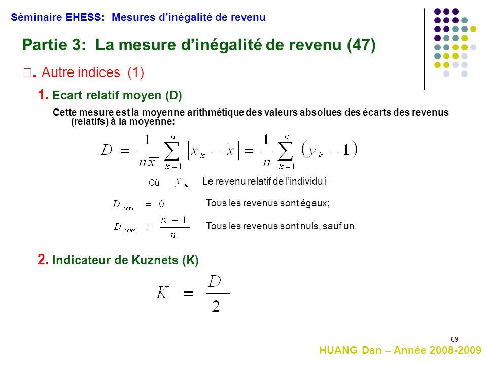 Partie 3: La mesure d'inégalité de revenu (47)