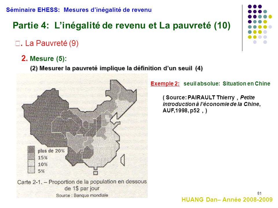 Partie 4: L'inégalité de revenu et La pauvreté (10)