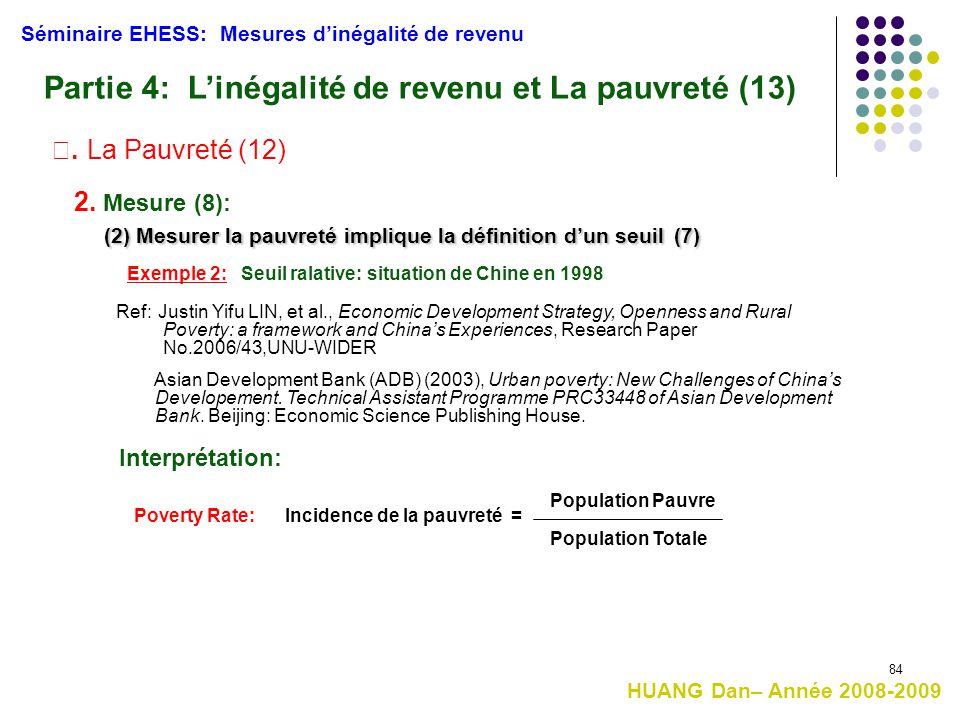 Partie 4: L'inégalité de revenu et La pauvreté (13)