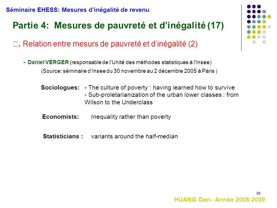 Partie 4: Mesures de pauvreté et d'inégalité (17)
