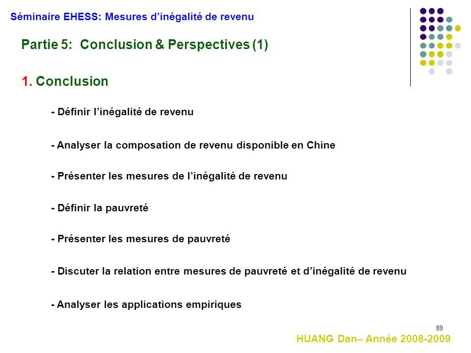 Partie 5: Conclusion & Perspectives (1)