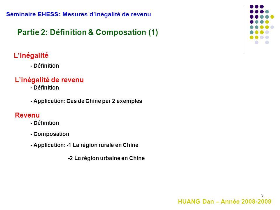 Partie 2: Définition & Composation (1)