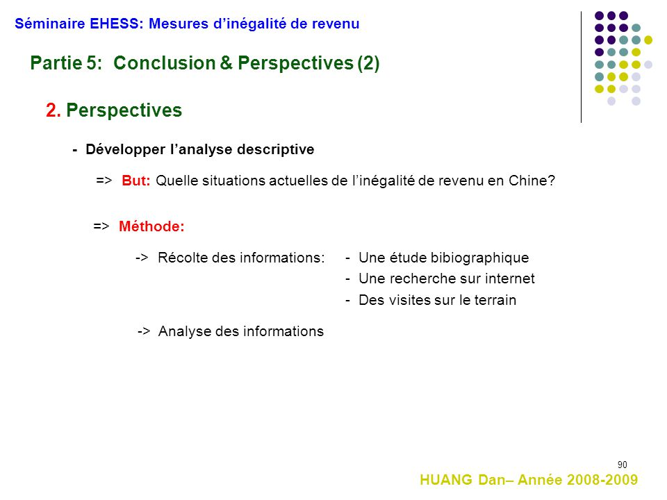 Partie 5: Conclusion & Perspectives (2)